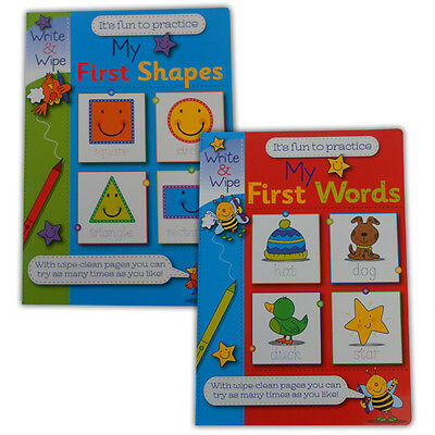 My First Words and My First Shapes Set of 2 Books - Learning Teaching Children