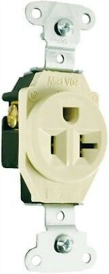 Pass & Seymour #5351ICC8 20A IVY Heavy Duty Single Outlet,No 5351ICC8, 3PK