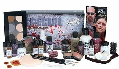 Mehron - ALL-PRO Special FX Kit. Necessary makeup, applicators and accessories