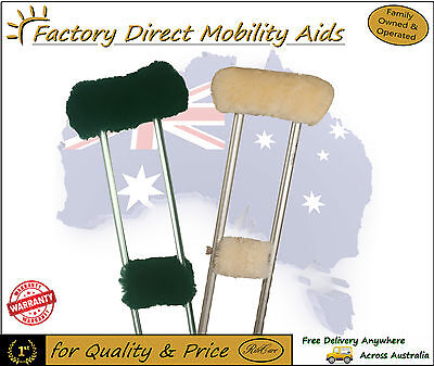 ツ UGG Wool Crutch Covers Pads Protection 2 Sets for Pair of Underarm Crutches