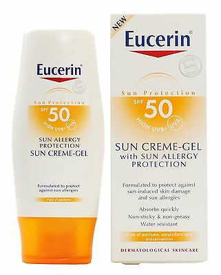 Eucerin Sun Creme - Gel SPF 50 Sun Allergy Protection 150ml x 2