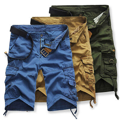 Men's Sports Pants Casual Army Cargo Combat Camouflage Overall Trousers Shorts