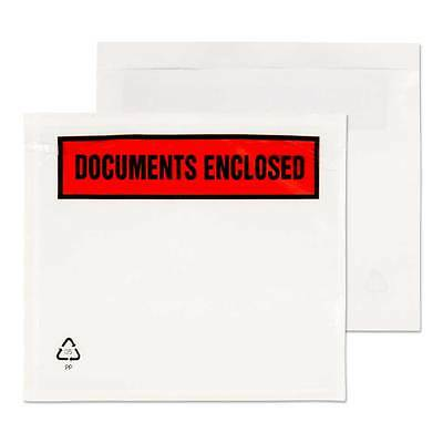 A7 C7 123x111 Printed / Plain Document Enclosed/ Packing List Wallets/Envelopes