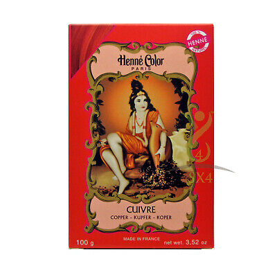 Henna Hair Dye Copper Colour Cuivre Powder 100g