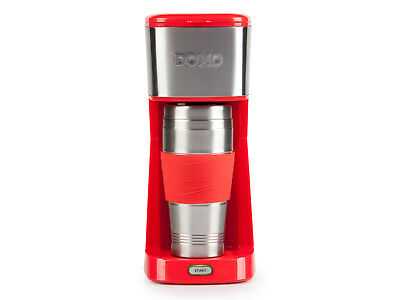 Kaffeemaschine Coffee to go mit Thermobecher 400ml rot, Single Kaffeemaschine
