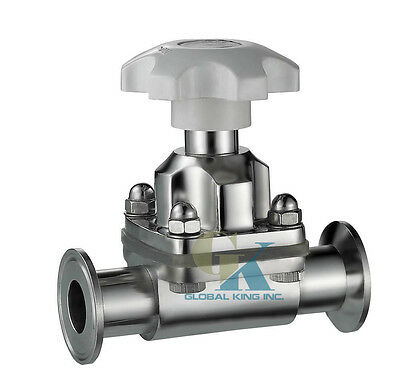 "3/4"" Sanitary Stainless Steel 316L Tri-Clamp OD 50.5mm Diaphragm Valve Silicone"
