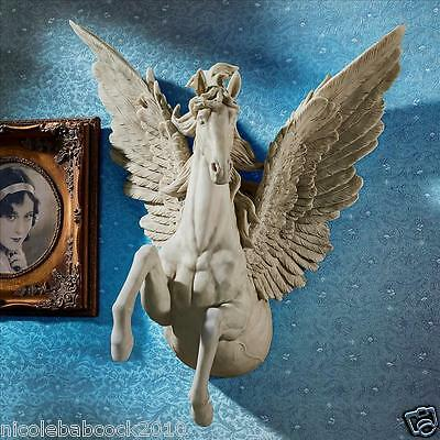 Pegasus Feathered Wing Wall Sculpture Divine Greek Mythological Flying Horse