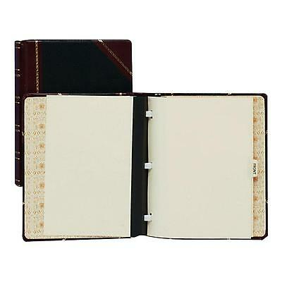 "Wilson Jones Minute Book Binder 500-Sheet Cap 11""x8-1/2"" Red/Black 39715"