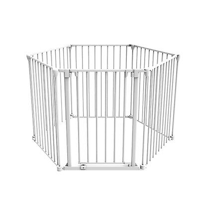 6 Panel Extra Large Steel Child Baby Safety Fireplace Screen Guard Barrier Gate