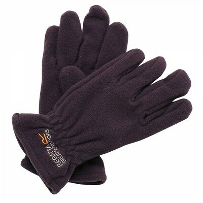 Regatta Taz Gloves II Boys Girls Kids Lined Warm Winter Gloves Purple Age 4-6yrs