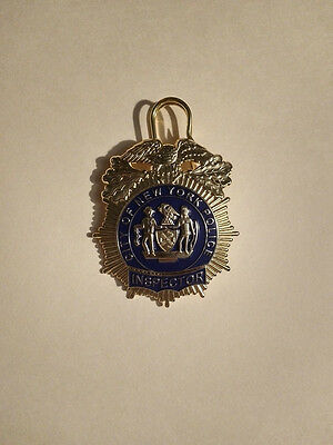 "OBSOLETE 1900S BADGE MUNICIPAL POLICE NEW YORK ""Inspector"""