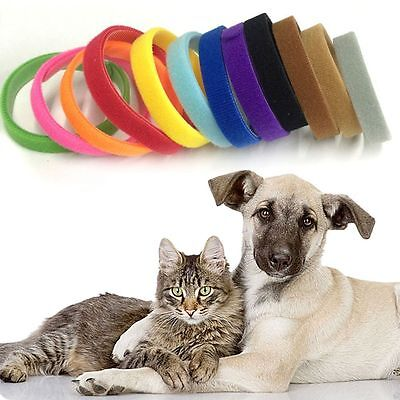 12 Colors Adjustable Puppy KITTEN Litter ID Bands Collars