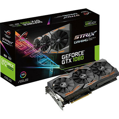 ASUS ROG Strix GeForce GTX 1080 Advanced Gaming Grafikkarte 8GB VR Ready