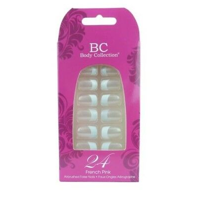 Body Collection Faux Ongles / Embouts - French manucure rose 24 ongles