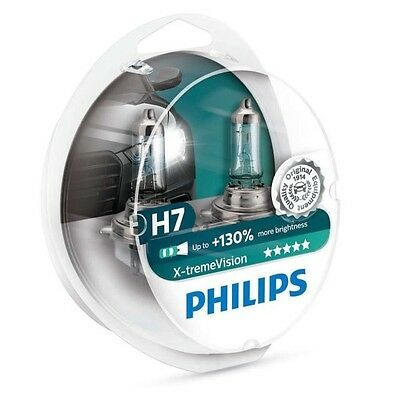Philips H7 X-treme Vision +130% Headlight Bulbs xtreme extreme 12972XV+S2