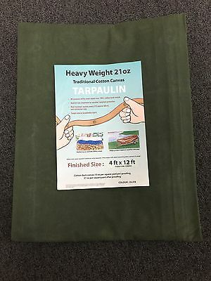 HEAVY DUTY CANVAS TARPAULINS 21oz Heavy Duty - Eight  sizes to choose from.