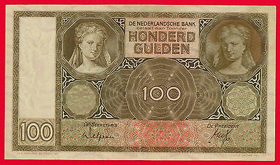 Netherlands 100 Gulden Unlisted Dated 6-6-1932 Pick-51a Rare