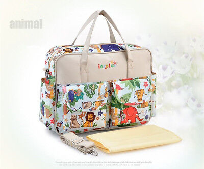 Luxury Large Floral/Animal Multifunction Waterproof Baby Nappy Changing Bag