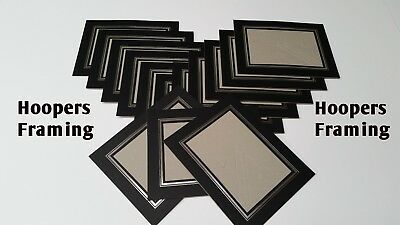 "7 X 5"" PHOTO MOUNTS -KENRO STRUT PACKS-cardboard picture view holders-black only"