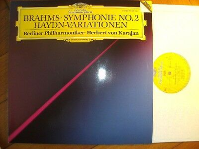 KARAJAN Brahms No.2 Orig. 1ED DGG 423142 DIGITAL LP NM Flawless