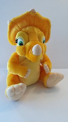 CERA the Triceratop from LAND BEFORE TIME 1996 Plush Yellow Toy Kids Dinosaur