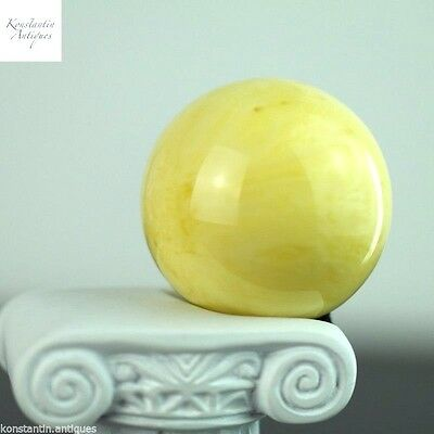 46.6 mm Amber stone bead pressed contain 70% of natural amber Milky White gift