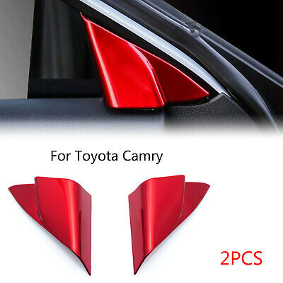 For Toyota Camry 2018 2019 2020 A-Pillar Front Door Triangle Red Cover Trims ABS