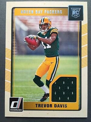 Nike NFL Jerseys - TREVOR DAVIS Green Bay PACKERS 2016 Custom Card for Auto Packers ...
