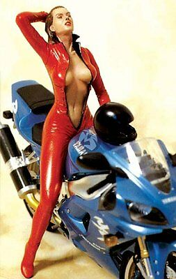 "Legend 150mm 1/12 ""Need for Speed"" Girl in Red Leather Suit on Motorcycle LF1505"