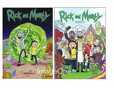 Rick and Morty: The Complete Series Season 1- 2 4-DISC DVD SET BRAND NEW