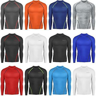 Mens Baselayer Sports Compression Tights Long Sleeves Sportswear Skins  S-XXL |