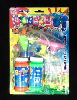 Flashing Led Bubble Gun With Extra Second Refill Bottle