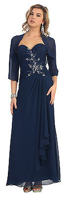 DressOutlet Long Mother of the Bride Dress Formal Plus Size Gown with Jacket