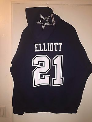 Dallas Cowboys Ezekiel Elliott Jersey Style Hoodie Hoody Hooded Sweatshirt