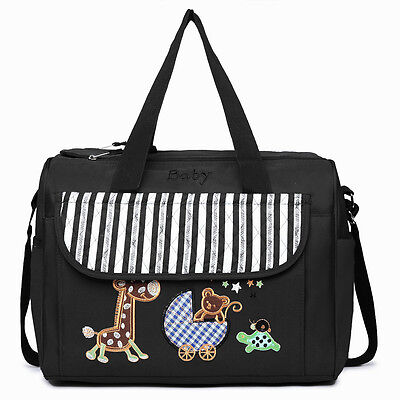 Baby Nappy Changing Bags With Changing Mat Diaper Maternity Bag Black UK Stock