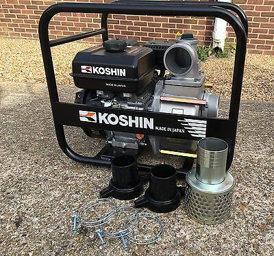 "Koshin 3"" petrol powered engine water pump, Semi-Trash 80mm high performance"