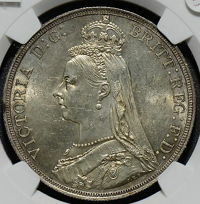 NG0220 Great Britain 1887  Crown NGC MS 63 combine shipping
