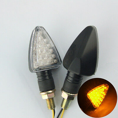 2x 12v Universal Motorcycle Motorbike 18 LED Turn Signal Indicator Light Amber