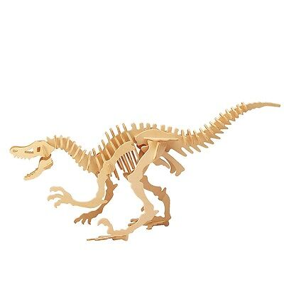 Wood Assembly DIY Toy for 3D Wooden Model Puzzles of Velociraptor Dinosaur F67