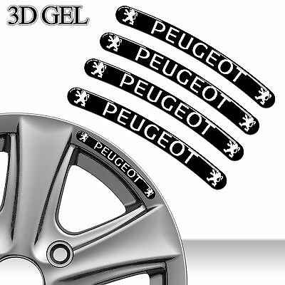4 Domed 3D Rim Wheel Stickers Stripe Peugeot Car Auto Emblem Tuning Sport Rs 21