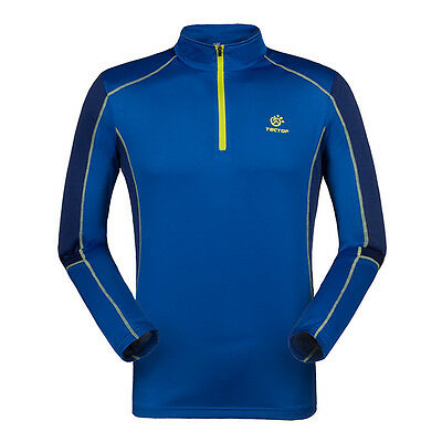 New Mens Long Sleeve Hiking Travel Pullover Outdoor Quick Dry Anti-UV T-shirts