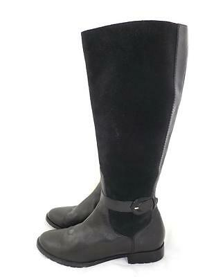 9f480534592 Cole Haan Women s 6.5 M Used Black Suede leather Buckle Knee High Riding  Boots