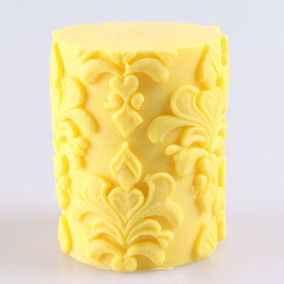 3D Flower Cylinder Candle Mold Soap Molds Silicone Mould Handmade Craft DIY Soap