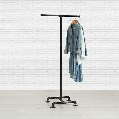 Industrial Pipe Clothing Rack 2 Way By William Roberts Vintage
