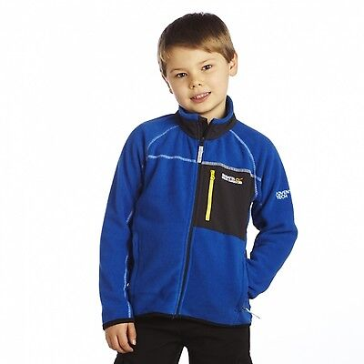 Regatta Lionhart Boys Symmetry Zip Through Micro Fleece Jacket Blue 15-16
