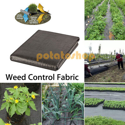 1M / 2M Wide Weed Control Fabric 100gsm Ground Cover Membrane Landscape Garden