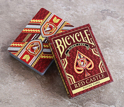 Bicycle Red Castle Playing Cards Deck Brand New Selaed