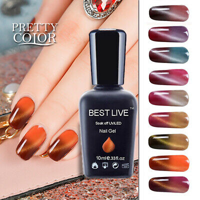 vts Thermal Cat Eye Nail Polish Soak off UV Gel Nail Polish Magnetic Nail Polish
