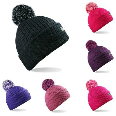 b5dcc682ad1b7 Ladies Mens Thermal 3M Thinsulate Chunky Knitted Beanie Bobble Hat Winter  Warm