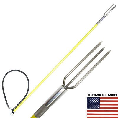 4.5' One Piece Spearfishing Fiber Glass Pole Spear Lionfish Tip Hawaiian Sling